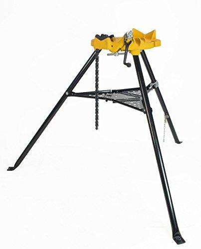 Steel Dragon Tools 460 6'' Tripod Pipe Chain Vise Stand fits RIDGID 72037 36273 by Steel Dragon Tools