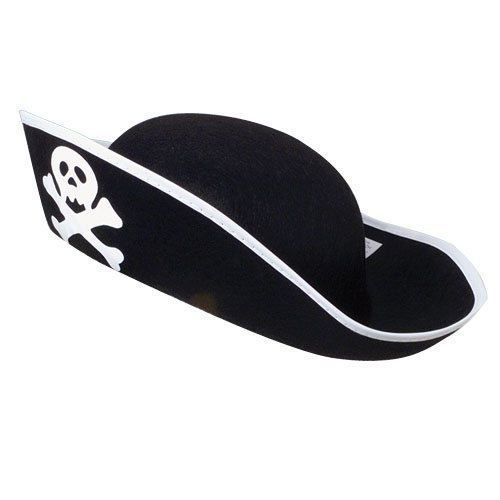 US Toy Felt Pirate Hat (2-Pack) ()