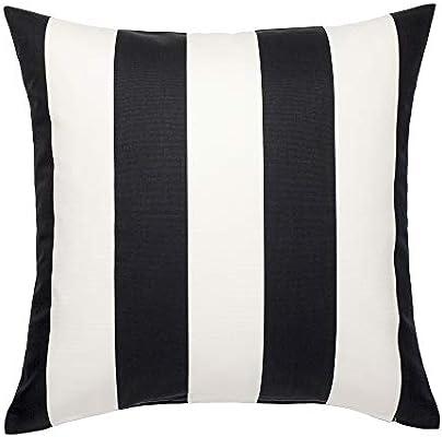 Fine Ikea Vargyllen Striped Black And White 100 Percent Cotton Cushion Cover Cjindustries Chair Design For Home Cjindustriesco
