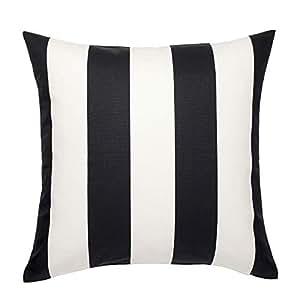 Amazon.com: IKEA VARGYLLEN Blanco y Negro de rayas 100 ...
