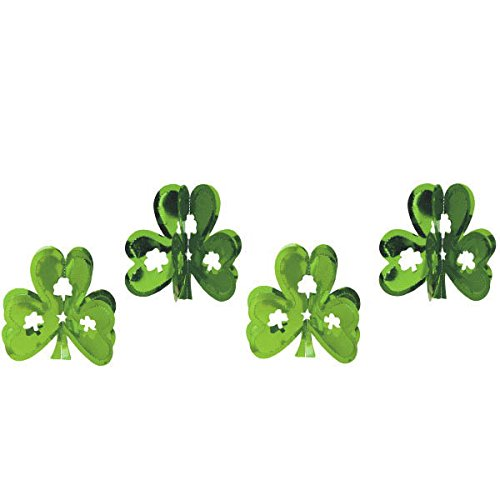 | Party Decoration TradeMart Inc 677102 St 9 Pk Patricks Day Mini Hanging Shamrock Foils