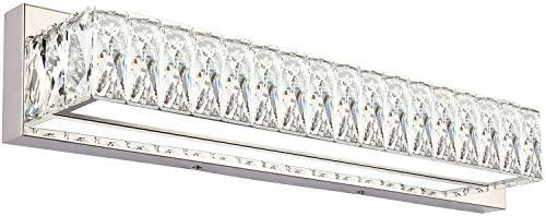 ZUZITO Crystal Bathroom Vanity Lighting Fixtures 7500 Modern LED Vanity Lights Over Mirror White Light