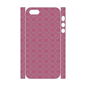 3D [Pink Pattern & Pink Texture] Pink Floral Cases for IPhone 5,5S, IPhone 5,5S Case Girl Unique for Guys {White}