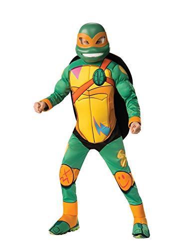 Rubie's Child's Rise Of The Teenage Mutant Ninja Turtles Deluxe Costume, Michelangelo, Small