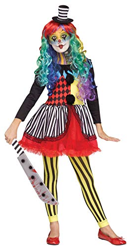 Girls Fun World Freakshow Clown Costume Medium ()