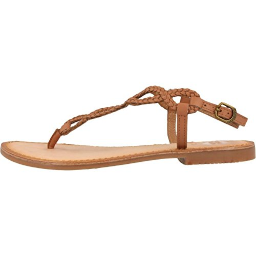Gioseppo Dylana 39222 Brown Leather Thong Sandals Woman Marrone ADxuqY8