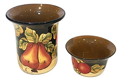 Chip and Dip WINTER FRUITS 2-PIECE JARS, 80051 by ACK