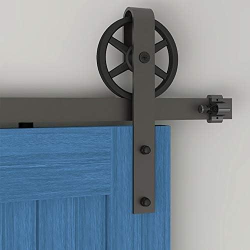 182CM/6FT puertas acero puerta corrediza de granero Hardware Herraje para Puerta de Granero Corredera de: Amazon.es: Bricolaje y herramientas