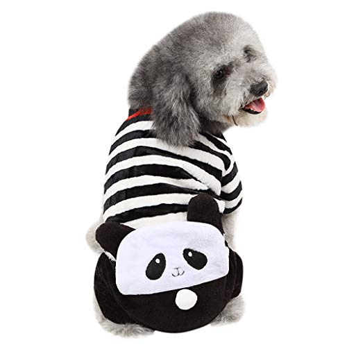 Alalaso Pet Dog Puppy Sweater, Winter Warm Clothes Velvet Costume Panda Costplay Jacket Coat Apparel(Multicolor,XS) -