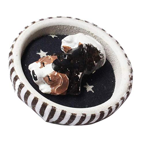 1/12 Sleeping Puppy Dog Animal Nest Room Item for Dollhouse -