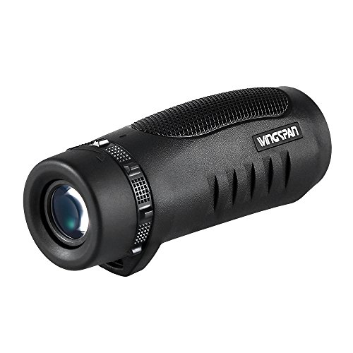 Wingspan Optics Scout 6X32 Compact Wide View Monocular with Carry Clip. Lightweight, Waterproof and All-Climate Durable. Perfect for Nature Lovers, Hikers and Bird Watchers on the Go by Wingspan Optics (Image #2)