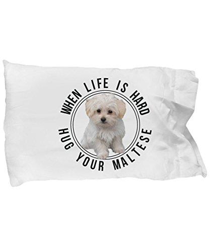 Maltese Dog Lover Pillow Case- Maltese Dogs Fans Pillow Cover - Maltese Puppies Bed Pillowcase