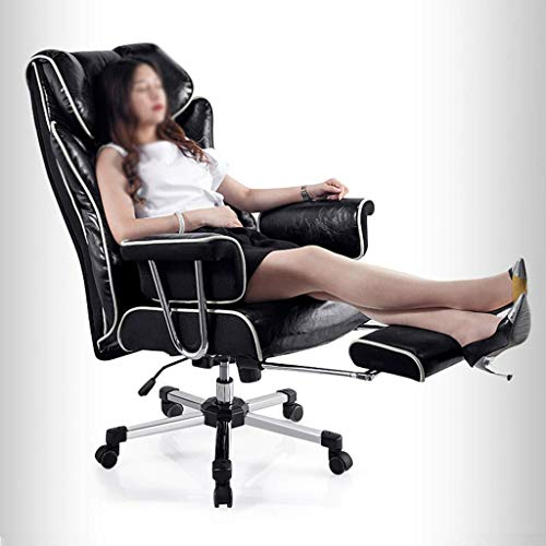 LWW Chairs,Gaming Chair,Computer Desk Chair with Padded Armrests Faux Leather Racing Swivel Chair for Office and Room