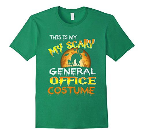 Mens My Scary General Office Costume Shirt Moon Halloween Large Kelly (Kelly The Office Halloween Costume)
