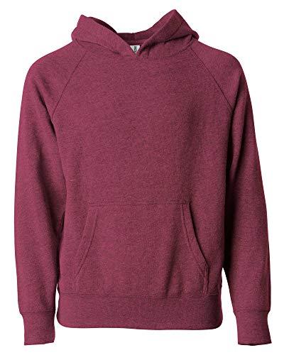 Global Boys Pullover Hoodie Girls Sweatshirts Front Pockets Fleece Kids Jacket (Small (6/8), Crimson Heather)