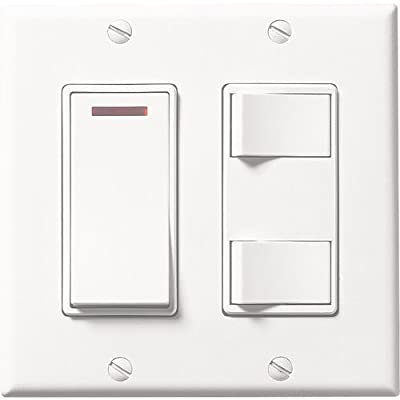 Broan 685WL 3-Function Control White 20 amps 120V Bath fan control