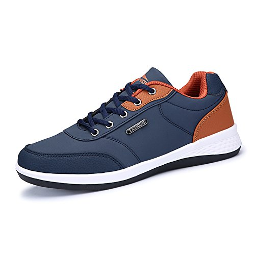 Caoutchouc Mode À Noir La Couleur Plat Bleu Taille Chaussures EU43 Chaussures Antidérapant Simples Fond Décontractées QIDI UK9 Homme qtSXSY