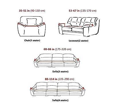 1 Sedile WUFANGFF Slipcover Argento Modello Elastico Forza Divano Poliestere Fodera Divano Copre Divano mobili Protector