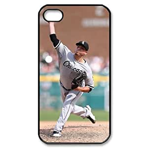 MLB iPhone 4,4S Black Chicago White Sox cell phone cases&Gift Holiday&Christmas Gifts NADL7B8825248