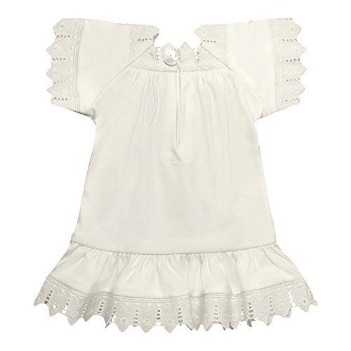 Victorian Organics Baby Girl Sailor Set 4 Piece Organic Cotton Knit and Eyelet Lace Trim Jacket Hat Dress and Bloomers (NB 0-3 months) by Victorian Organics (Image #4)