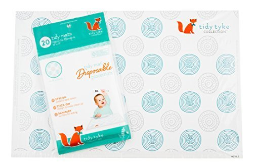 EXTRA STICKY Baby Disposable Placemats - Tidy Tyke Collection - Bulk Pack - Table Topper