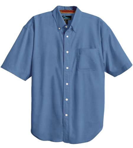 Tri-Mountain Men's Retro Blended Oxford Dress Shirt with TeflonTM Stain Resistant
