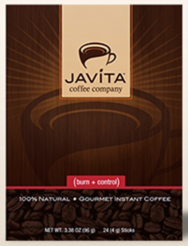 Javita (burn + control) Gourmet Instant Coffee for Weight Loss (Basic Kit - 2 boxes), 3.8 OZ each