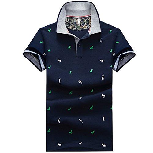 [ SmaidsxSmile(スマイズ スマイル) ] ポロシャツ トップス 半袖 柄 ボタン 襟付 カジュアル ゴルフウェア メンズ