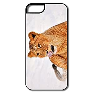 IPhone 5 5S Cases, Lion Cub Snow White/black Case For IPhone 5 5S