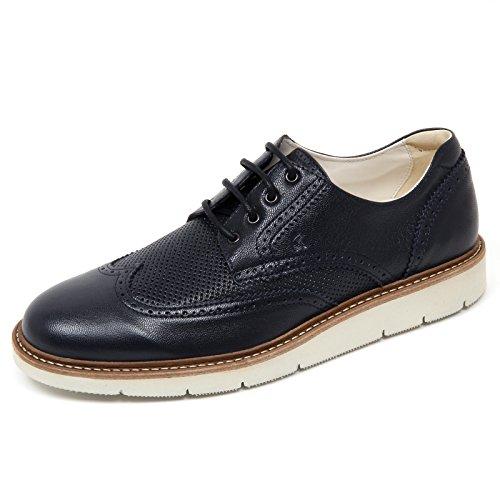 Venta Barata Precio Más Barato D0096 scarpa inglese uomo HOGAN H322 DERBY BUCATURE scarpa blu scuro shoe man blu denim scuro Descuento De Taller f4tqaHz