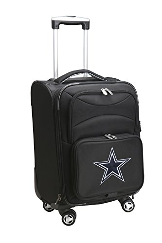 NFL Dallas Cowboys Domestic Carry-On Spinner, 20-Inch, Black
