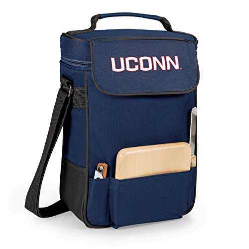 NCAA Connecticut Huskies Duet Insulated Wine and Cheese Tote with Team Logo