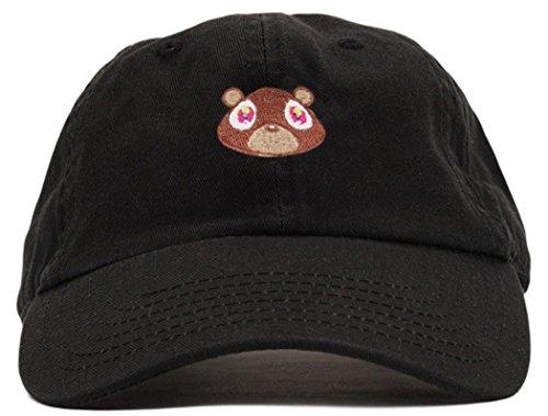 FGSS Mens Bear Print Adjustable Cotton Strapback Dad Hat Baseball Cap (Kanye West Sonnenbrille)