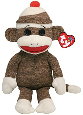 Ty Beanie Buddies Socks Monkey (Brown)