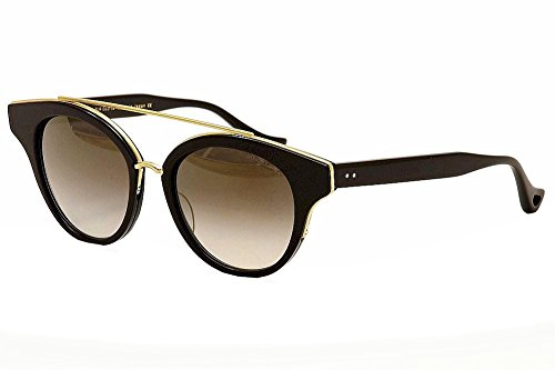 Dita Medina 22023A Shiny Black/18K Gold Fashion Sunglasses - Sunglasses Dita Gold