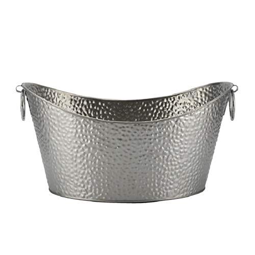 XYBW Steel Oval Party Tub | Beverage Tub, Drinks Pail, Drink Tub, Beer Bucket -