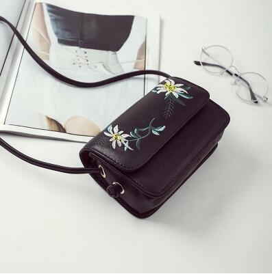 Piccola Embroidery Fashion a a borsa AASSDDFF tracolla New con Women per Nero Borsa tracolla donna a tracolla tracolla Borsa nero x7wEvwB