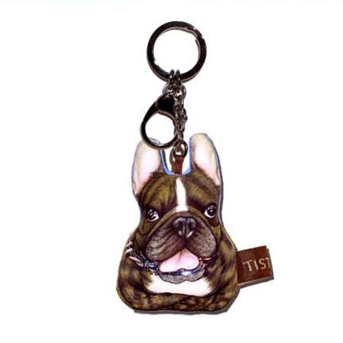 Sansukjai Key ring Key chain French Bulldog Fancy Tiger Fabric Dog lover High 10 cm