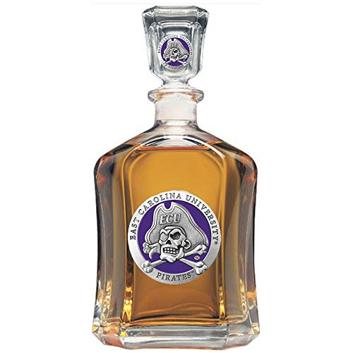 ECU East Carolina University Decanter Team Color Glass Bottle
