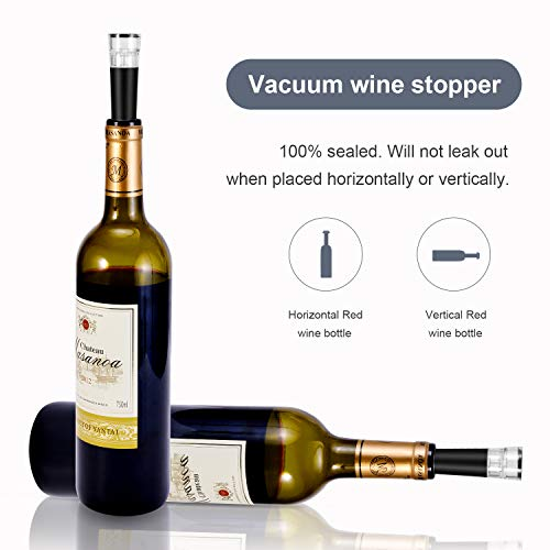 Haolide Wine Air Pressure Opener Six Set, Needle Wine Bottle Opener Accessories Tool Kit with Aerator Pourer,Foil Cutter,Vacuum Stopper,Elegant Wine Gift Box
