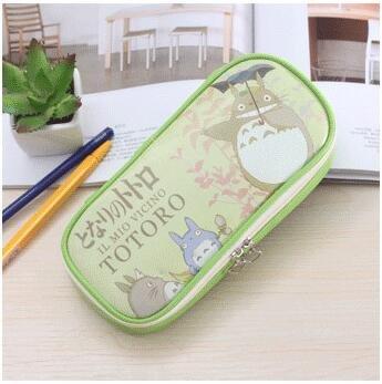 Totoro - Estuche para lápices (piel sintética, con cremallera), color verde: Amazon.es: Hogar
