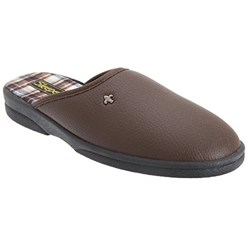 Slapers Heren Dwight Outdoor Sole Muilezel Slippers Bruin