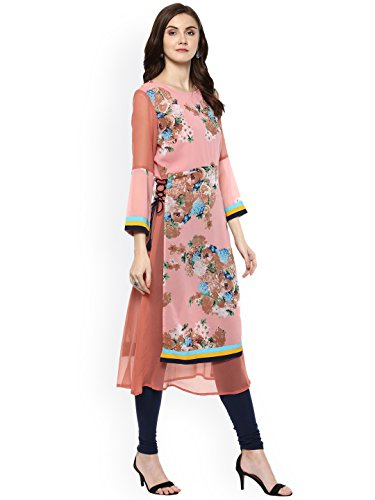 Dream Printed Kurti Kurta Fashion Pink Straight Angel Dress Women n4YOrfq4
