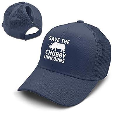 Save The Chubby Unicorns Funny Adjustable Men/Women Mesh Hat Trucker Baseball Cap Navy