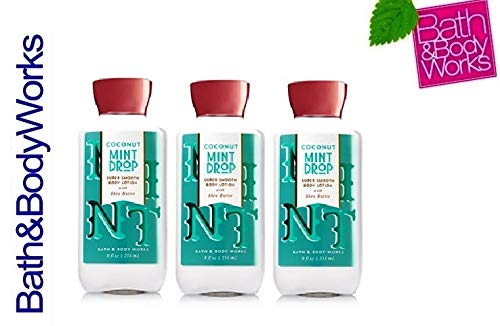Mint Drop - Bath and Body Works COCONUT MINT DROP Body Lotion Lot of 3