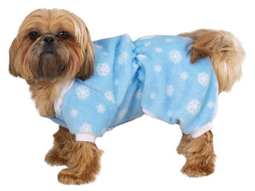 Zack and Zoey Winter Snowflake Pajamas Xsm Blue, My Pet Supplies