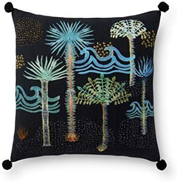 Loloi DSET Black Multi Decorative Accent Pillow, 18 x 18