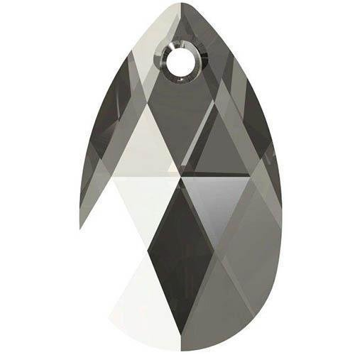Black Diamond Briolette Earring - 6106 Swarovski Pendant Peardrop - 16mm | Black Diamond | 16mm - Pack of 1 | Small & Wholesale Packs
