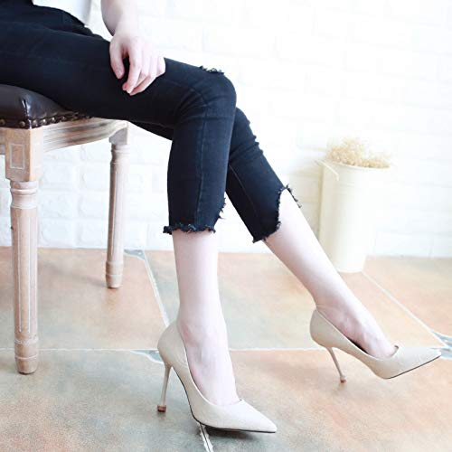 Yukun Schuhe mit hohen Absätzen Herbst Stiletto Wies Heels Wies Stiletto Weibliche Schuhe Flacher Mund War Dünn Einzelne Schuhe Weiblich 39 Rosa rot 8f8e9a