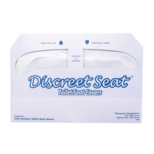 Hospeco Discreet Seat Half-Fold Toilet Seat Covers (20 Packs of 250)